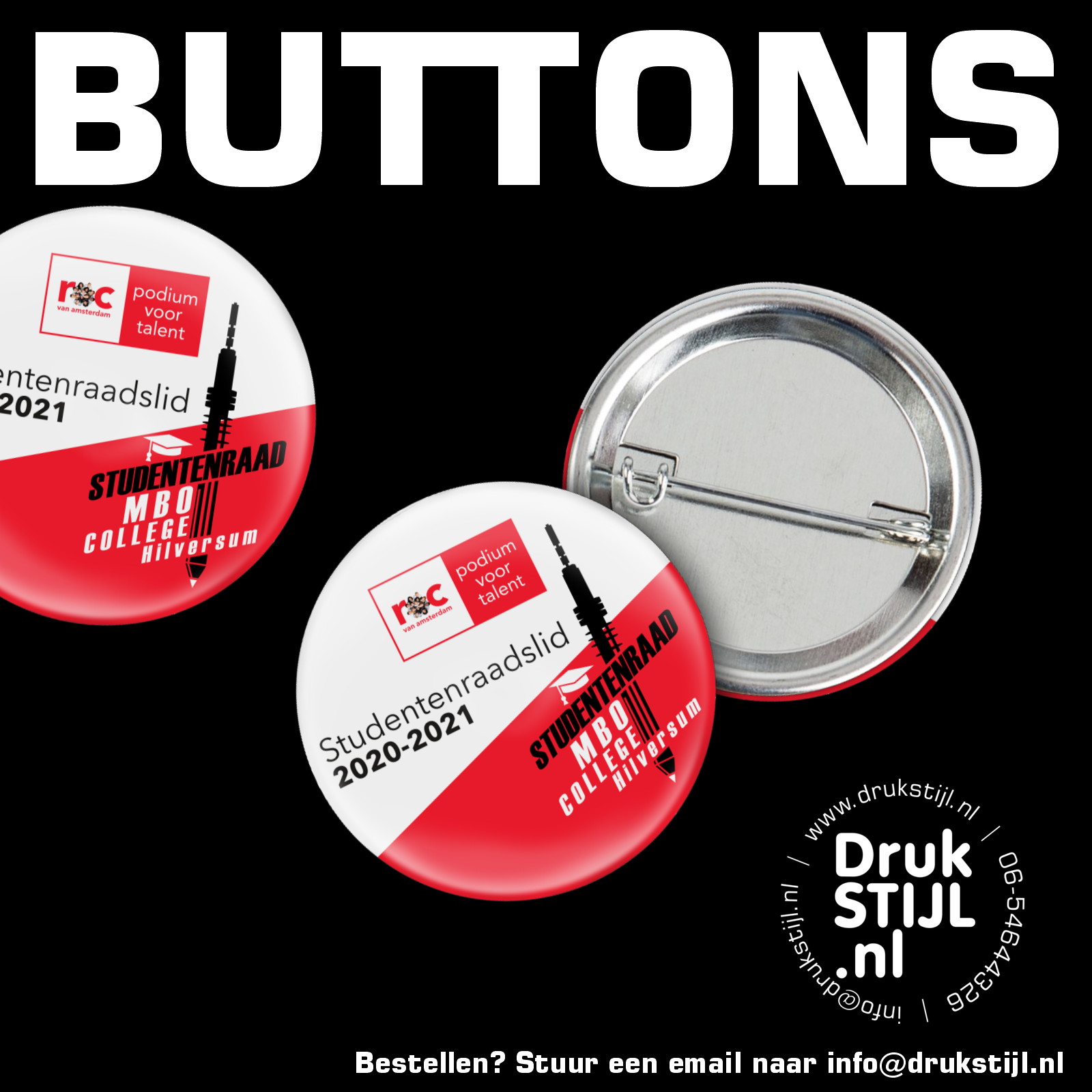 Buttons en badges DrukSTIJL